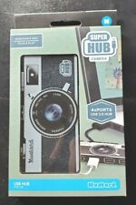 Retro Camera Shaped USB x4 Ports Super Hub 2.0, Mustard Brand NEW Discontinued