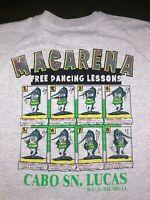 Vintage Mens XL 90s Macarena Dance Lesson Cabo San Lucas Mexico Souvenir T-Shirt