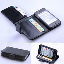 New Card Holder Flip Wallet Leather Case Cover For Apple iPhone 4 / 4S Black