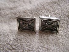 Vintage Swank Cufflinks with Fly Fishing Poles