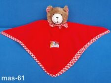Sigikid schmusetuch ours teddy rouge Kuscheltuch tache 28 cm Bear