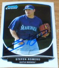 Mariners Stefen Romero Autographed Card