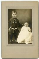 Antique Photo - Little Boy in Sailor Suit & Baby in Long Gown-RAYMOND & MILDRED