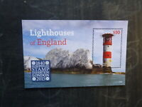 2015 NEVIS LIGHTHOUSES OF ENGLAND MINT STAMP MINI SHEET M.N.H.