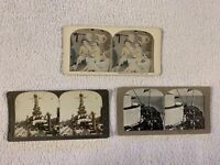 Stereo Views World War I Sailors and Navy Ships; Lot of 3