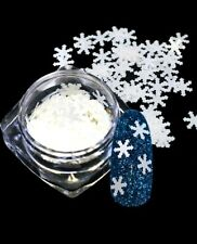 Christmas Nail Art Matte white Xmas Snowflake Glitter Shape Craft