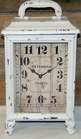 Old Farmhouse Carriage Clock Rustic White VINTAGE COTTAGE FARMHOUSE CHIC New