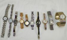 LOT OF 10 WOMENS WATCHES FOSSIL CITRON ANNE KLEIN DAISY FUENTES CIRA & MORE  A3