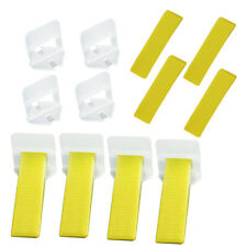 400pcs Tile Leveling System Wedges Clips f/Wall Floor Tiling Tools Spacer Straps