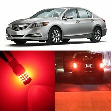 Alla Lighting Rear Turn Signal Light 7440 Red LED Bulbs for Acura RLX RSX ~04 TL
