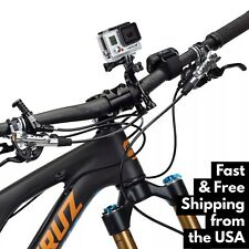 GoPro Bike Handlebar MOUNT for Hero 3,4,5,6,7 + Session Seatpost Pole Roll Bar