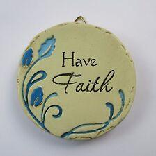New listing b Have Faith Mini Plaque fairy garden stepping stone Ganz Polystone