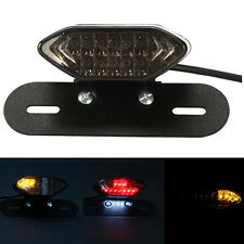 Universal LED Motorcycle Brake Tail Turn Signal License Plate Integrated Light