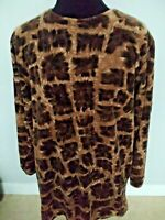 Bechamel Petites Women's Vintage Tunic/Top Long Sleeve Animal Print Size PL.