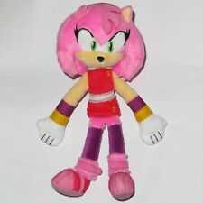 "8"" AMY ROSE SONIC THE HEDGEHOG BOOM TOMY SEGA PLUSH SOFT TOY VIDEO GAME CARTOON"