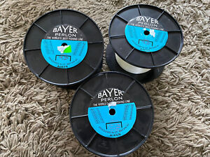 3 Spools x Aiken Bayer Perlon Fishing Line 35lbs Huge Spools Sea Fishing Line