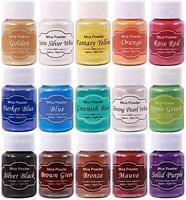 DEWEL Mica Powders, 15 Boxes Colors Epoxy Resin Pigment Natural Mica Powder