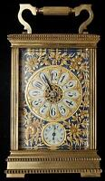 1867 J.E. Caldwell & Co French Carriage Clock 1hr & 1/2hr Chime W/Alarm