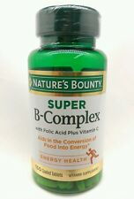 Super B Complex With Folic Acid Biotin Vitamin C Nature's Bounty Energy Support