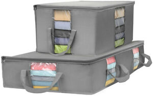 Sorbus Storage Bag Organizer Set (Storage Bag Set, Gray)