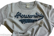 T-Shirt Abercormbie & Fitch - mis. XL - col. Grigio logo A&F Blu