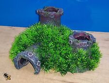 Aquarium Ornament Pipe Grass Cave Hide Decoration Fish Tank Airstone