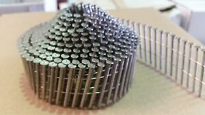 16 Degree Conical Wire Nail Gun Coil Nails. Stainless Steel. 32mm - 50mm