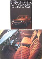 Renault 30 TS 1975-76 Original Foldout Finnish Sales Brochure