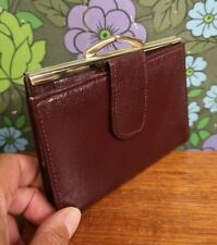 Vintage Brown Clasp Top Leather Purse / Wallet