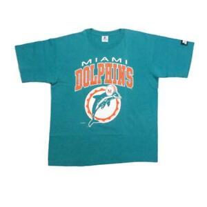 Miami Dolphins 1993 Vintage Football T-Shirt Large Logo Starter Sz L