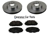 FOR TOYOTA PRIUS 1.8 HYBRID FRONT BRAKE DISCS AND PADS 2009 TO 2016 TOP QUALITY