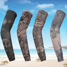 New Cycling Tattoo Arm Warmers Bicycle UV Protection Elastic Sleeve Cover Random