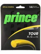 **NEW** 4 SETS PRINCE TOUR XC 16L (1.27) BLACK CO-POLYESTER TENNIS STRING