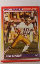 NFL Trading Card Cary Conklin Washington Redskins Score 1990