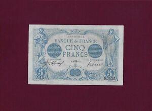 FRANCE 5 Francs 1915 P-70 VF++