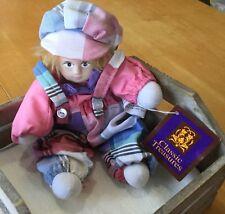 Classic Treasures 'Aribella' Doll w Porcelain Face 8�. Pink, Blue, White