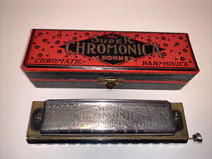 Vintage HOHNER Harmonica Super  Chromonica 270 key of C Red Box made in GERMANY