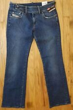 "Diesel Jeans NWT Cherone 32x30 Womens Multi-Stitch Selvedge 9"" rise, 9"" boot"