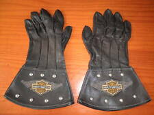 GUANTES PIEL MOTORISTA VINTAGE HARLEY DAVIDSON PRODUCTO OFICIAL MADE IN USA  L