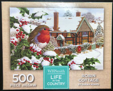 500 Piece Jigsaw Puzzle- Life In The Country- Robin Cottage