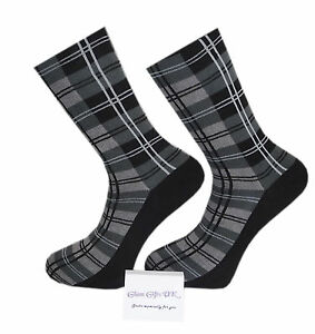 High Quality Black and Grey Tartan Socks
