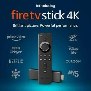 Original Amazon 4k Ultra HD HDR Feuer Stick mit Alexa Stimme Remote BRANDNEU Artikel