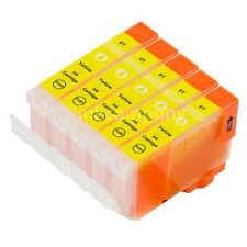 5 CANON Patronen mit Chip CLI8 Yellow IP3300 IP3500 IP4200 IP4500 IP5200R MP600R
