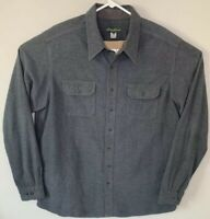 Eddie Bauer Men's 100% Cotton Long-Sleeve Gray Button-Down Casual Shirt Sz XLT