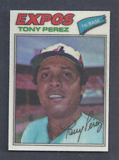 1977 Topps Cloth Sticker #37 Tony Perez Montreal Expos Mint