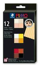 Genuine FIMO 12 x 25g Coloured Blocks Doll Art Modelling Clay Oven Bake New Box