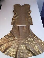 Herve Leger Gold Top S $189 and Herve Leger Gold SKIRT XS $186 total $375