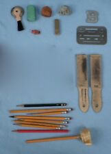 Vintage Lot Engineering Drafting Supplies, Erasing Shield Eberhard eraser &more