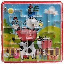 Maze Puzzle Game Animal Theme Kids Party Favour Toy - 12 Pieces