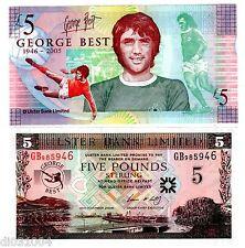 IRLANDE DU NORD NORTHERN IRELAND Billet 5 POUNDS 2006 P339 GEORGES BEST NEUF UNC